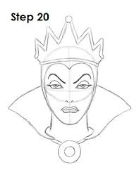 how to draw the evil queen snow white