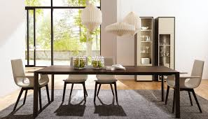 Contemporary Dining Room Tables Contemporary Dining Table Oak Rectangular Extending Et