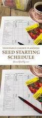 planning your vegetable garden seed starting schedule