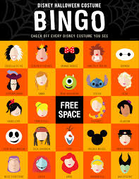 Halloween Quiz For Kids Printable by Disney Halloween Costume Bingo Oh My Disney