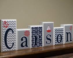 Decorative Letter Blocks For Home White Letter Blocks Etsy