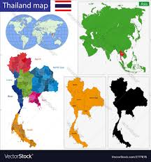 thailand vector map map of kingdom of thailand royalty free vector image