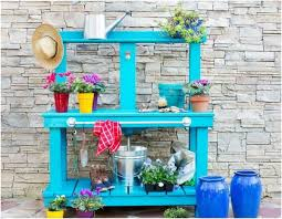 Wooden Potting Benches Wooden Potting Bench Table 20 Ideas For High Functionality In