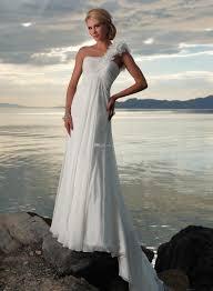 2015 sale chiffon floral fashion one shoulder beach wedding