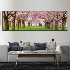 Cherry Blossom Home Decor Super Large Home Decor Single Picture Canvas Painting Oil Living