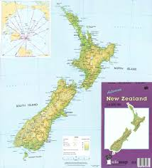 New Zealand And Australia Map Small Scale Topographic Maps Land Information New Zealand Linz