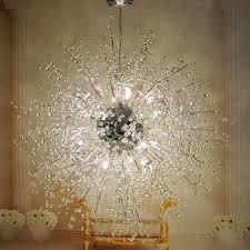 modern dandelion led chandelier fireworks pendant lamp ceiling
