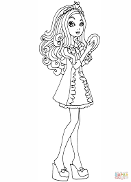 ever after high getting fairest apple coloring page free
