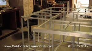Kitchen Cabinet Plans How To Build Outdoor Kitchen Aluminum Frame For Outdoor Kitchen