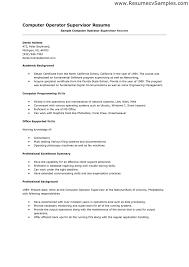 sample summary of resume ideas of computer operator resume samples for summary sample brilliant ideas of computer operator resume samples for reference