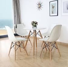 eames inspired dining table eames style white wood modern chairs chairs pinterest modern