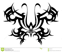 abstract butterfly tattoo design stock images image 20983274