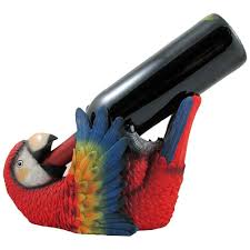 amazon com tropical parrot wine bottle holder as a display stand