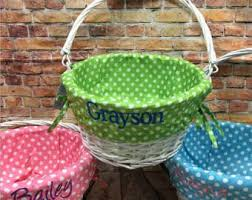 personalized basket monogrammed easter basket with liner personalized wicker easter