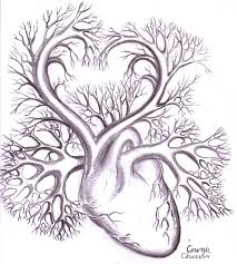 heart and rose drawings in pencil free download clip art free