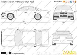 nissan cefiro the blueprints com vector drawing nissan cefiro a31 drift