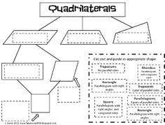 classifying quadrilaterals activities quadrilaterals worksheets