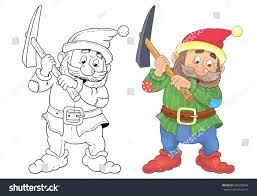 snow white dwarfs fairy tale stock illustration 546200998