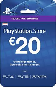 ps4 gift card bol nederlands sony playstation network psn giftcard kaart 20