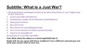title just war and holy war explain why some religious believers