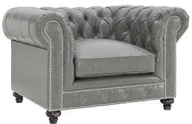 Leather Chesterfield Armchair Chesterfield Rustic Grey Leather Club Chair Advanced Interior