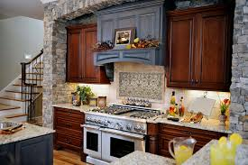 rustic stone kitchen contemporary looking kitchen with panel stone