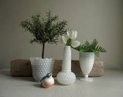 vintage napco milk glass urn planter white translucent milk