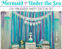 the sea decorations the sea party etsy