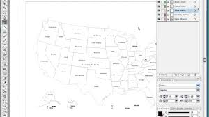 Maps Of The Usa How To Use Map Of The Usa In Adobe Illustrator Youtube