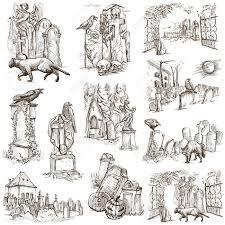 Halloween Drawing Graveyard Halloween Drawings U2013 Halloween Wizard