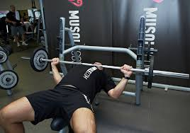 Wide Grip Bench Press For Chest Wide Grip Barbell Bench Press Musqle