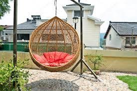 rattan hanging chair u2014 stock photo zhudifeng 39293571