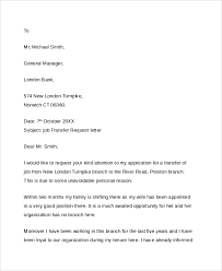 Transfer Request Letter In Bank sle transfer request letter 5 documents in pdf word