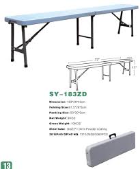 Lifetime 6ft Folding Table Bench 6ft Folding Bench Hdpe Ft Plastic Folding Benchschool
