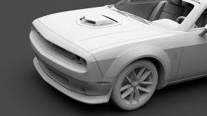 Dodge Challenger 392 - dodge challenger 392 hemi pack shaker widebody 2017 3d model