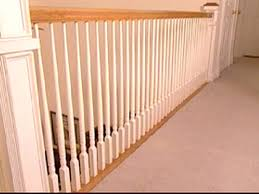How To Install Stair Banister Laying Carpet Around Balusters Spindles Doityourself Com