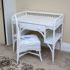 White Wicker Desk by Online Furniture Auctions Vintage Furniture Auction Antique