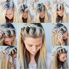 braided hairstyle instructions step by step diy half up side french braid hairstyle simple to follow guide