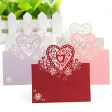 popular wedding name cards heart buy cheap wedding name cards