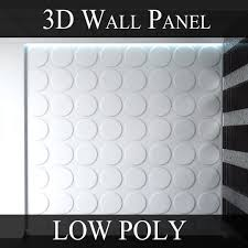 game ready 3d wall panel low poly ellipses cgtrader