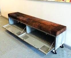 industrial storage bench industrial storage bench vintage steel locker storage bench
