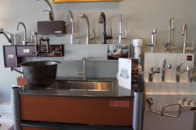 the portland showroom also has a wide variety of kitchen faucets
