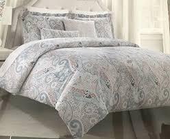 tahari bedding duvet cover set king 3 pc set paisley bohemian