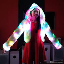 2017 led light up shining christmas eve party jacket women winter