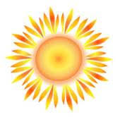 clip of sun with abstract redish rays k9420172 search clipart