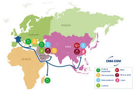cheese all around the world the cma cgm bougainville