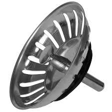 Kitchen Sink Plugs - stainless steel round replacement sink waste strainer