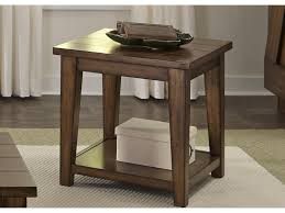 End Table With Shelves by Liberty Furniture Lancaster End Table With Shelf Novello Home