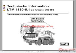 liebherr ltm 1130 5 1 technical information superstructure