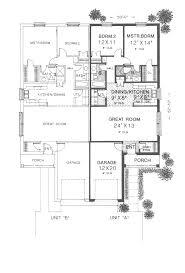twin springs ranch duplex plan 036d 0123 house plans and more